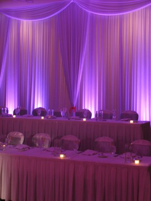 Wedding Backdrop with Uplights